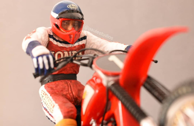 Motocross scale model