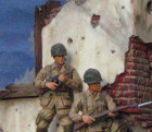 WWII scene detail for a museum