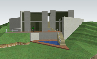 3D Modeling of a design house.